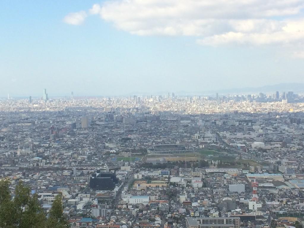 枚岡展望台,大阪平野,あべのハルカス